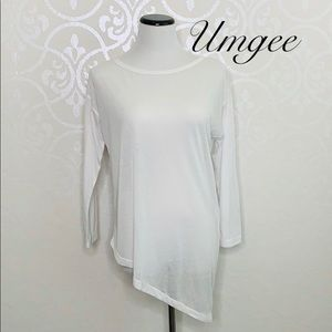 UMGEE MEDIUM ASYMMETRICAL SEMI-SHEER TOP